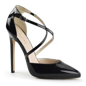 Shoes - 5 Inch High Heel Pointed Toe Criss Cross Shoes